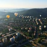 Sobotní ranní let z centra Brna